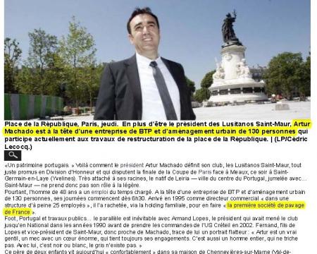 La presse en parle - 8 Juin 2013 Le Parisien