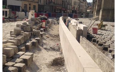 MEAUX (77) - Réaménagement et mise en valeur de l'esplanade de la Cathédrale 2012-2013 image 3