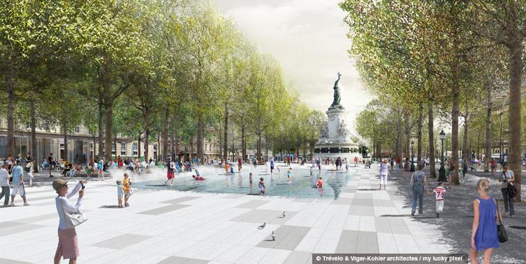 PARIS Place de la République - Projet Statut