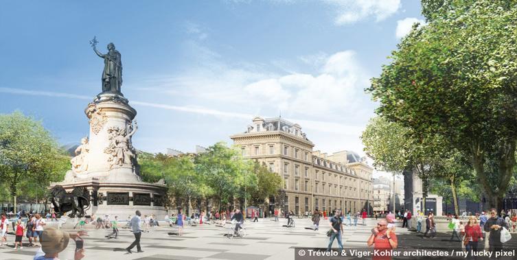 PARIS Place de la République - Projet Statue