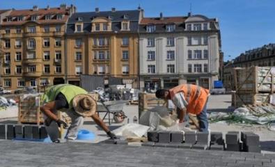 METZ (57) - BHNS Mettis Place de la Gare - 2012