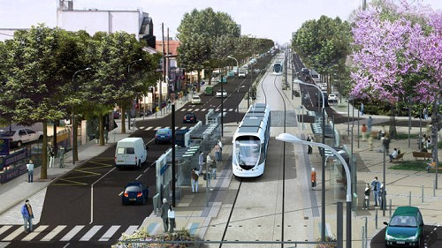Tramway t6 ch tillon velizy viroflay central pose for Garage chatillon montrouge