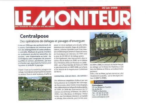Tram du Mans - Le Moniteur 20-06-2008
