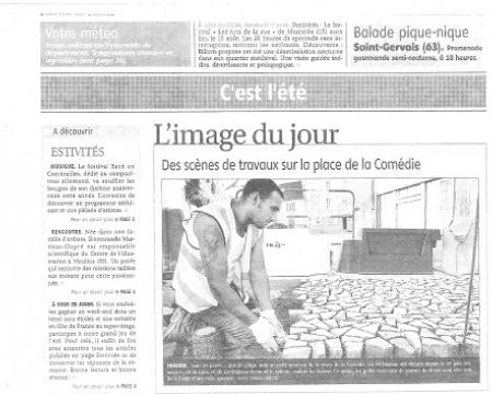 La presse en parle - La Montagne - 6 août 2011