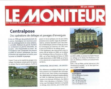 La presse en parle - Le Moniteur - 20 juin 2008