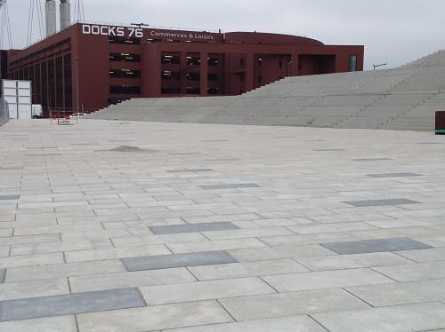 Dalles béton  - ROUEN Parc des sports - 2012
