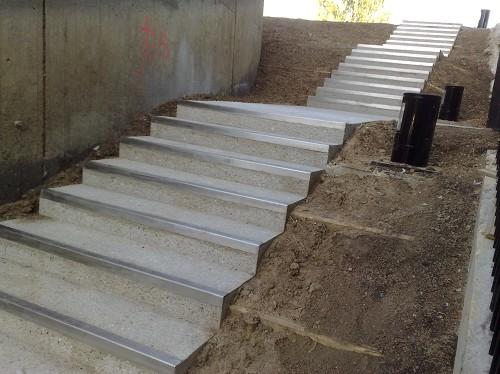 escalier béton -
