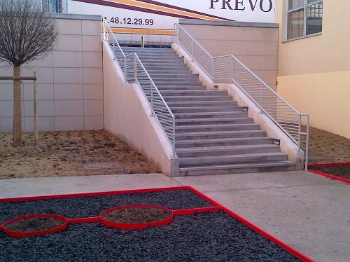 escalier en béton armé